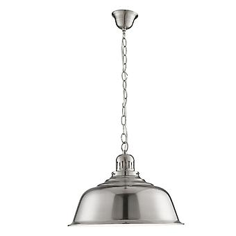 Satin Silver Round Pendant - Searchlight 8551ss
