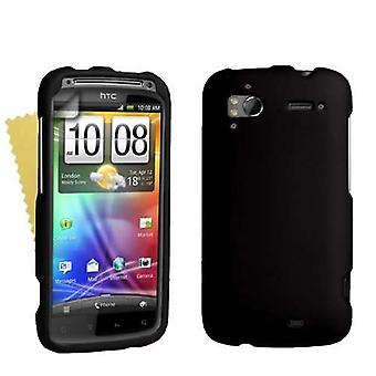 Yousave Accessories HTC Sensation Hybrid Hard Case - Black