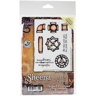 Sheena Douglass Perfect Partners Time Traveller Stamps-In The Pipeline SD-PPS-PIPE
