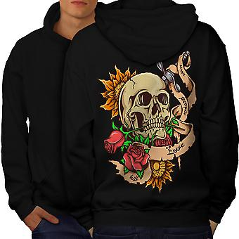 Stabbed Head Death Men BlackHoodie Back | Wellcoda
