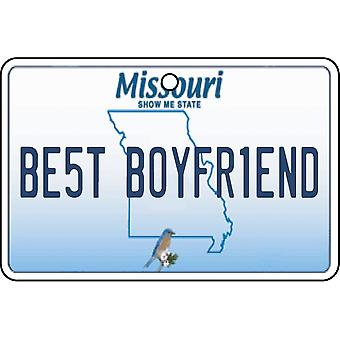 Missouri - Best Boyfriend License Plate Car Air Freshener