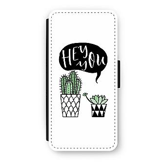 iPhone 5c Flip Case - Hey you cactus