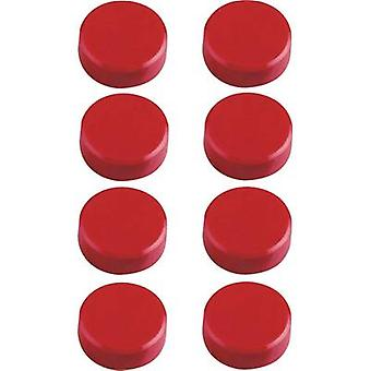 Maul Magnet (Ø x H) 15 mm x 7 mm Facet edge, round Red 8 pc(s) 6175225