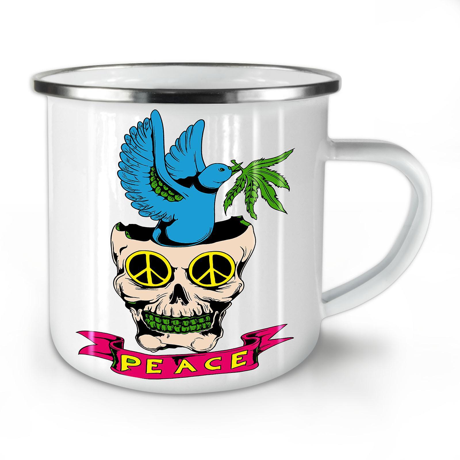 Rasta OzWellcoda Mug10 42 Whitetea Café Paix Crâne Émail Nouvelle q3R4Aj5L