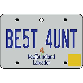 NEWFOUNDLAND AND LABRADOR - Best Aunt License Plate Car Air Freshener