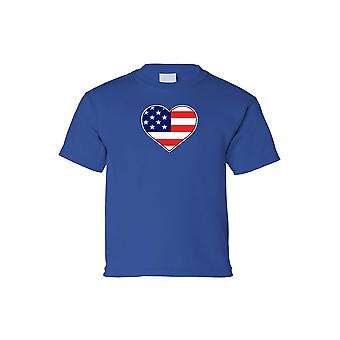 Kids USA Flag Tee Love & Pride For Country Short Sleeve T-Shirt