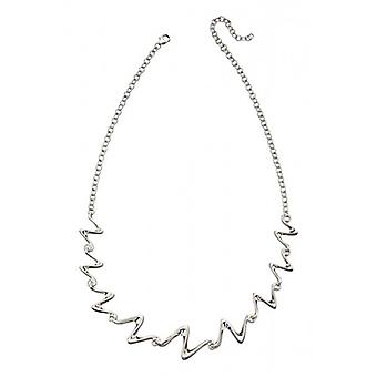 Elements Silver Water Wave Link Necklace - Silver