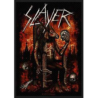 Slayer Patch Devil On Throne Band Logo new Official sew on