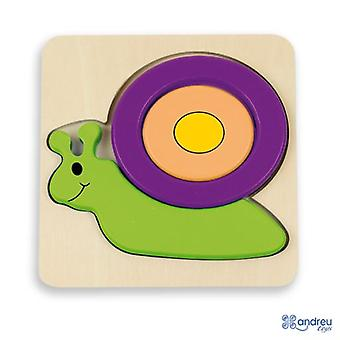 Andreu Toys Of x Baby Puzzle - Snail