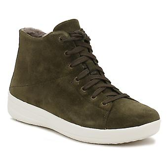 FitFlop Womens Camouflage Green F-Sporty Sneakerboots Trainers