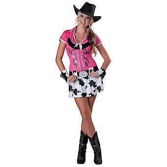 Cowgirl Bling Western Wild West Rodeo Pink Teen Women Costume