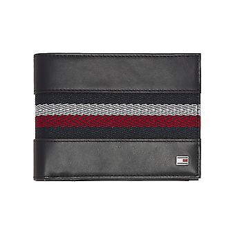 Tommy Hilfiger – Corp Webbing – extra CC and coin heren portemonnee – Black