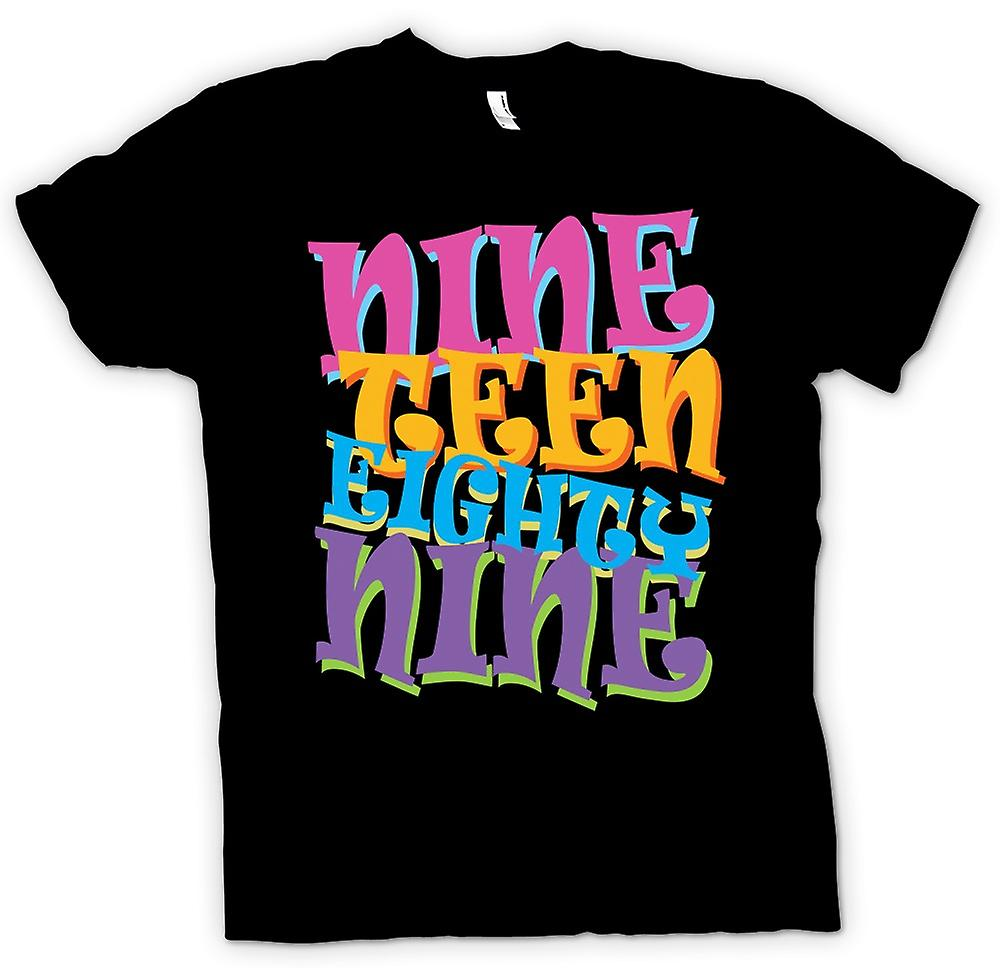 Mens T-shirt - Nineteen Eighty Nine 1989 - Cool