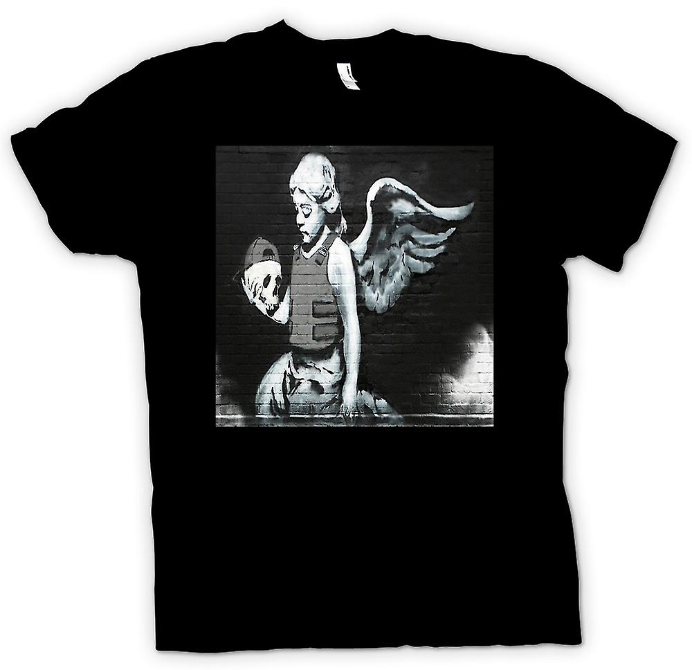 Kids T-shirt - Banksy Angel - Wall Mural