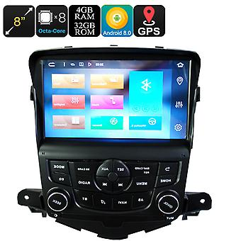 8 Inch 1 DIN Car Stereo For Chevrolet Cruze - Android 8.0, Octa-Core, 4GB RAM, 32GB ROM, CAN BUS, GPS, Bluetooth, Google Play