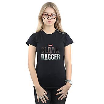 Marvel Women's Cloak And Dagger Logo T-Shirt