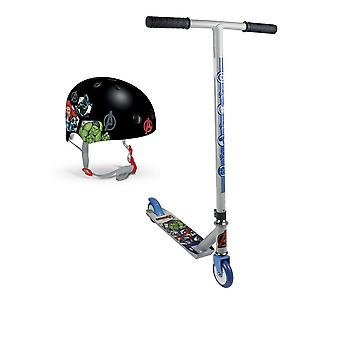 Marvel Comics Avengers Assemble Kids Stunt Scooter and Protection Helmet