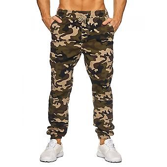 Mens Cargo Casual Trousers Camouflage Pants Camouflage Pattern stretch Army Style belt