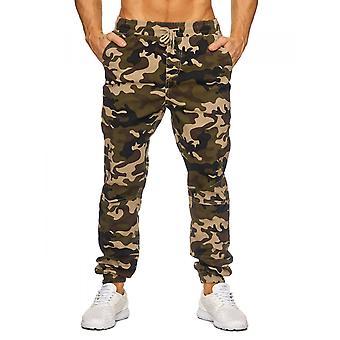 Pantalones de camuflaje de pantalones de los hombres carga ocio patrón de Tarn de correa del estilo del ejército estiramiento
