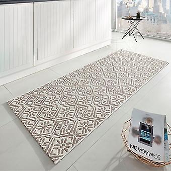 Kitchen runner flat fabric runner creation Beige Cream 80 x 200 cm
