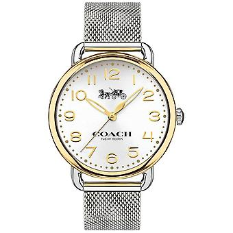 Coach Womens Delancey inox maille Bracelet or ton cas 14502802 Watch