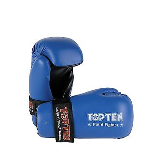 Top Ten Pointfighter Kickboxing Gloves Black Red Blue