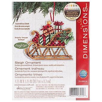 Susan Winget Sleigh Ornament Counted Cross Stitch Kit-4.25