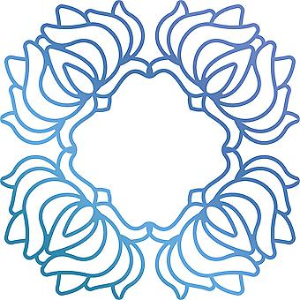 Ultimate Crafts Bohemian Bouquet Hotfoil Stamp 3.5