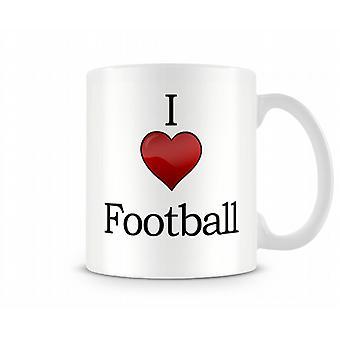 Football imprimé J'aime la tasse
