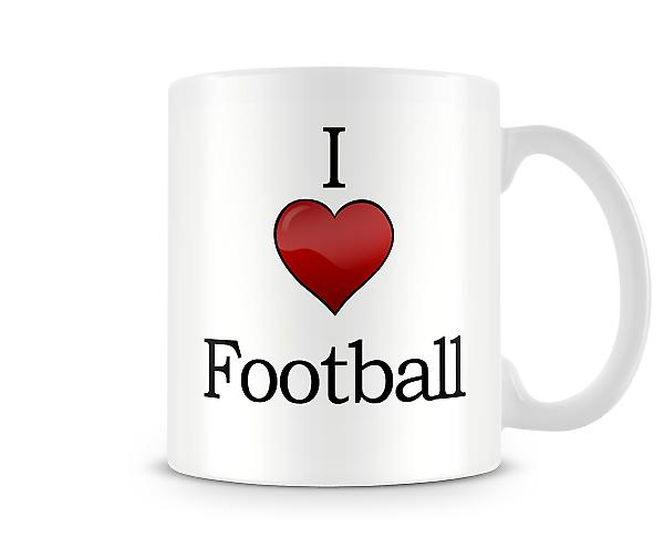I Love Football Printed Mug