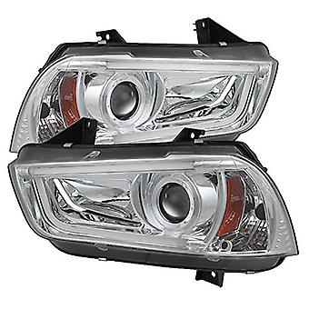 Spyder Auto (PRO-YD-DCH11-LTDRL-HID-C) Dodge Charger Projector Headlight
