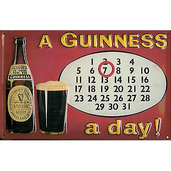 Guinness Everlasting Calendar Embossed Metal Sign 300Mm X 200Mm