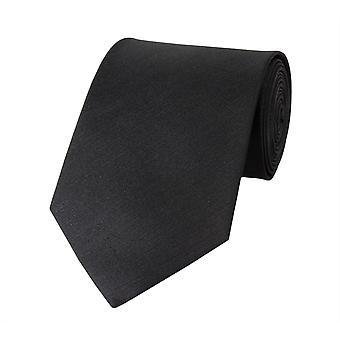 Nouer la cravate cravate 8cm Uni noir Fabio Farini