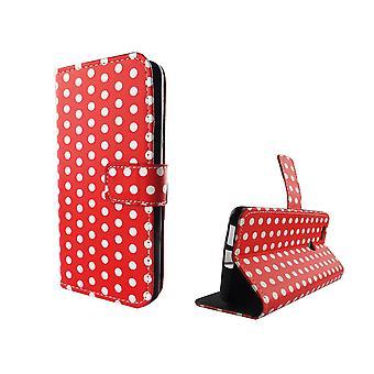 Mobiele telefoon geval zakje voor mobiele Huawei Nova polka dot Red