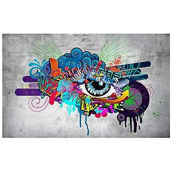 Artgeist Wallpaper Graffiti eye (Decoration , Vinyls)