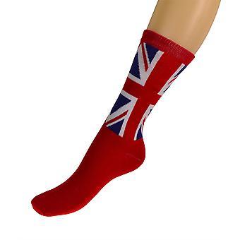 Red Union Jack Socks UK 4-7