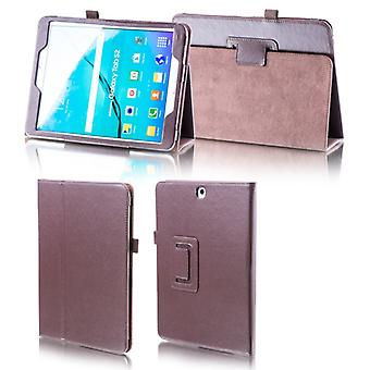 For Samsung Galaxy tab A-10.5 T590 T595 Brown faux leather case cover pouch case new