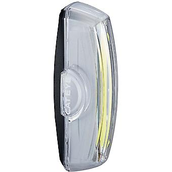 CatEye White Rapid X USB Rechargeable Road Bike Light-Front