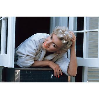Marilyn Monroe - fenêtre rebord affiche Poster Print