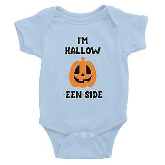 Hollow Inside Pumpkin Baby Bodysuit Gift Sky Blue