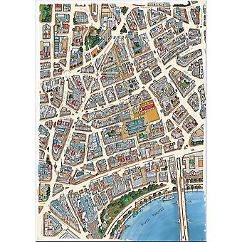 Londen Covent Garden Area Street kaart 1000 stuk puzzel (jg)