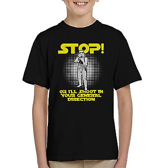 Original Stormtrooper Stop Or I Will Shoot Kid's T-Shirt