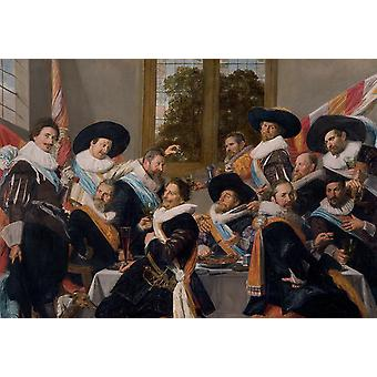 Banquet of the Officers of the St Hadrian, Frans Hals, 40x60cm with tray