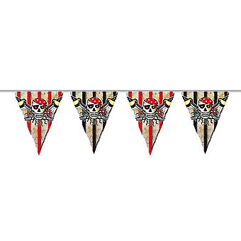 Pirate Party Wimpel chain Garland children's Party 6 m children's birthday party