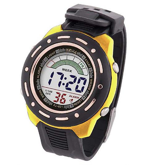 Waooh - Watch XINJIA LCD XJ-821 Yellow