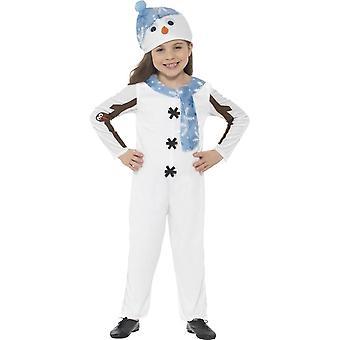 雪だるまの幼児の衣装、幼児年齢 3 4