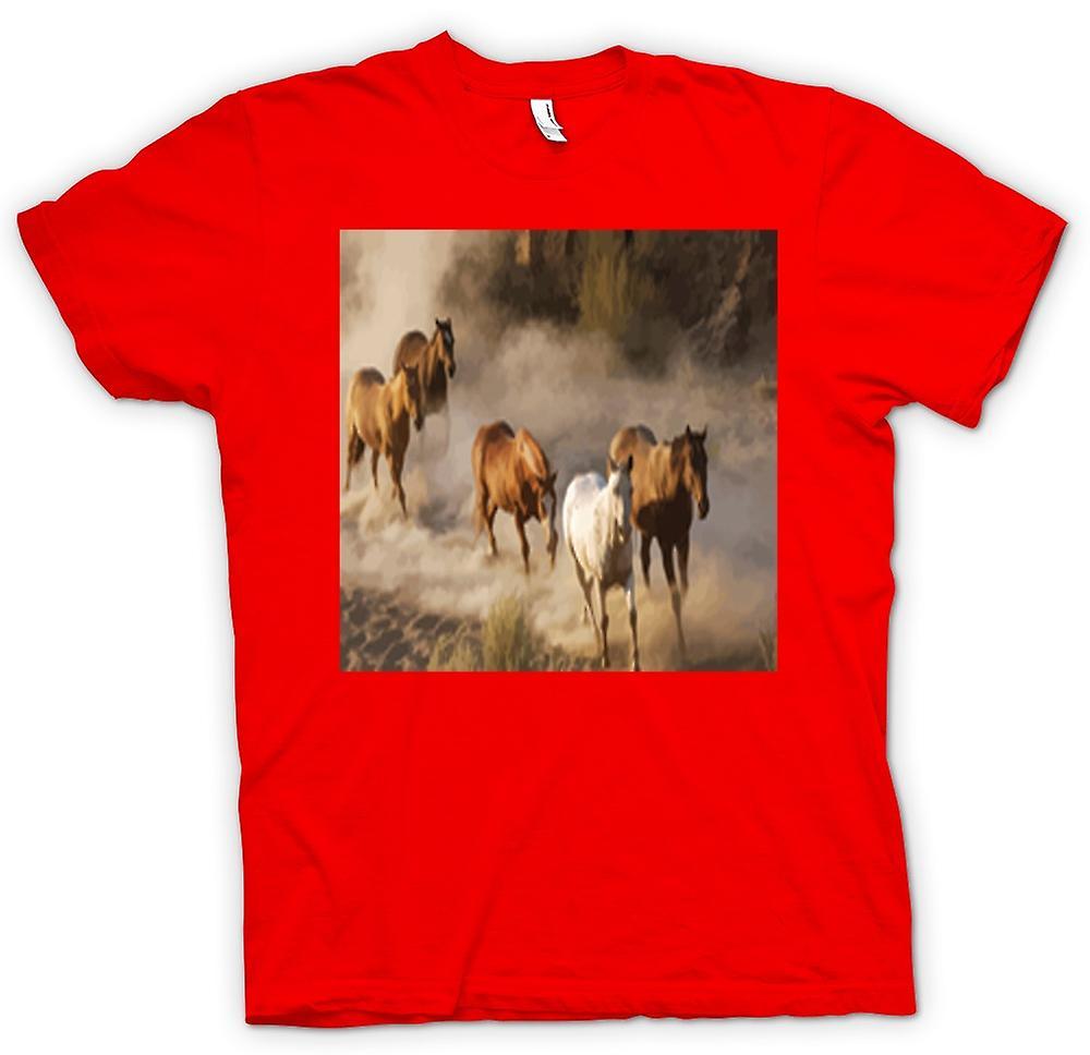 Mens t-shirt-impetuoso cavalli Prairie Design