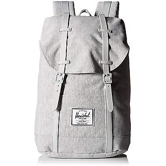Herschel Light Grey Crosshatch-Grey Rubber Retreat - 19.5 Litre Laptop Backpack