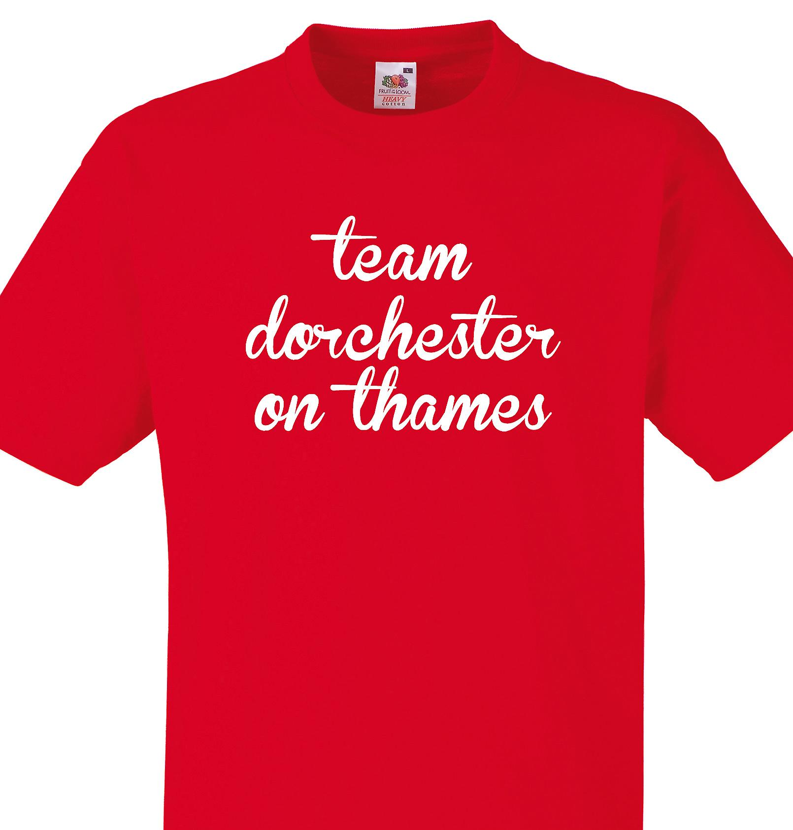 Team Dorchester on thames Red T shirt