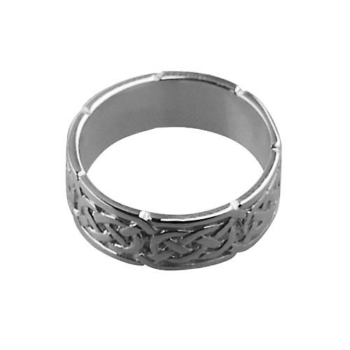 9ct white gold 6mm Celtic Wedding Ring